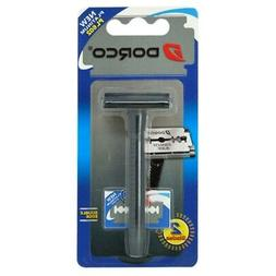 Dorco PL602 1 Handle + 2 Double Edge Blades Men