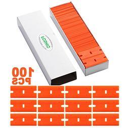 """FOSHIO 1.5"""" Plastic Razor Blades for Safety Titan Scraper -"""