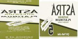 Astra Platinum Double Edge Safety Razor Blades ,100  1-Count