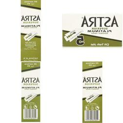 Astra Platinum Double Edge Safety Razor Blades ,100 Blades