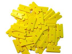 Mini Scraper 1 Pack  2X-Plus Double Edged Plastic Razor Blad