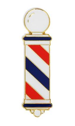 MD Barber Pole Lapel Pin