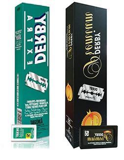 Derby Premium Double Edge Razor Blades, 100 Ct + Derby Extra