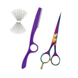 """Professional Hair Cutting Scissors 5.5"""" With Hair Styling Ra"""