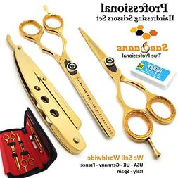 Saaqaans QSS-03 Professional Barber Scissors Set - Package i