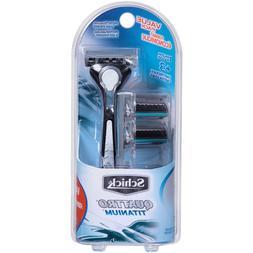 quattro titanium razor for men value pack