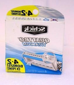 Schick Quattro Titanium Refill Razor Blades Bonus Pack! 6 Ct