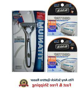 Schick Quattro Titanium Razor Blade Refills for Men - 24 Car