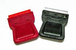 Mini Razor Blade Scraper 2 Pack  with 25 Plastic Double Edge