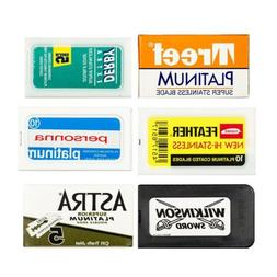 Razor Blade Sample Pack:Treet,Derby,Astra,Feather,Personna a