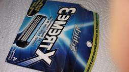Schick Extreme 3 Razor Blades 4 Cartridges UNUSED