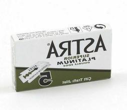 Astra Razor Blades Green Superior Platinum Double Edge - Sup