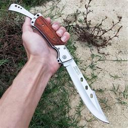 RAZOR BLADES LIMITED EDITION BURL WOOD STOCKMAN LOCK BACK PO