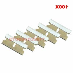 100pc Razor Blades Single Edge Extra Sharp Heat Treated Safe