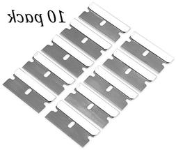 10 Pack Razor Blades Single Edge- High-Grade Long Lasting Ca