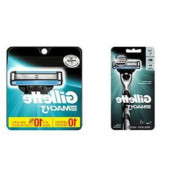 Gillette Men's Razor, Handle & 1 Blade Refill with 10 Blade