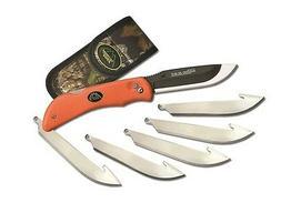 Outdoor Edge Razor with 6 Blade, Blaze Orange 116042