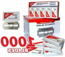 DORCO Red Razor Blades ST-301 - Case of 10 100-packs = 1000