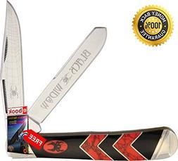 Rough Rider Folding Utility Knife 1670 Black Widow Trapper M