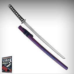 """Samurai Sword 37"""" Japanese Katana Stainless Steel Blade Blac"""