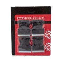 SCRAPERS MINI 4PK STANDARD BLADE HARDWARE BLISTER CARD, Case