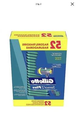 Sealed 52 Count Gillette Sensor2 Custom Plus Pivot Twin Blad