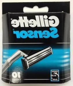 Gillette Sensor Razor Blades - 10 Cartridges