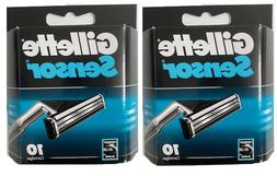 Gillette Sensor Razor Blades - 20 Cartridges