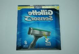 Gillette Sensor3 Men's Razor Blade Refills, 8 Count, Mens Ra