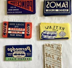 Set Of 6 Collectible Vintage Razor Blades In Original Wrappe
