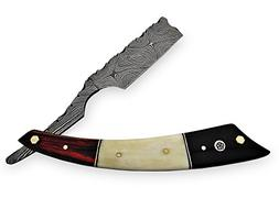 AishaTech Sewanee Hand made Straight Razors Damascus steel B