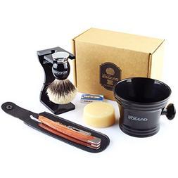 7pcs Shaving Set,Anbbas Silvertip Badger Shaving Brush,100g