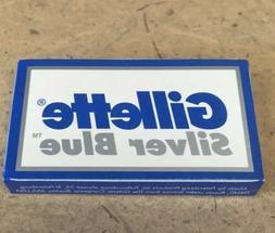 5 Gillette Silver Blue Double Edge Razor Blades / 5 Blades