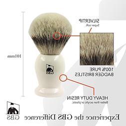 GBS 100% Silvertip Badger Hair Shaving Brush Ivory Handle 24