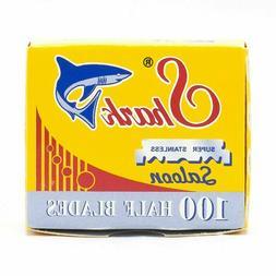 Shark Single Edge Half Barber Razor Blades 100ct Box