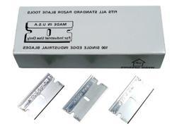 Single Edge Razor Blades  Made in U.S.A Box of 100 Pieces