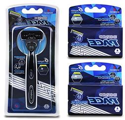 Six Blade Power Razor System with Trimmer 9 Cartridge Dorco