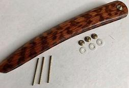 "Snakewood Straight Razor Scales Hardware For 5/8""-1"" Boker D"