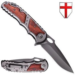 Spring Assisted Knife - Folding Knife for Boy Scouts and Cam