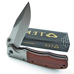 TEK Spring Assisted Opening Folding Pocket Knife: Beautiful