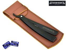 straight razor 100 free blades leather sheath