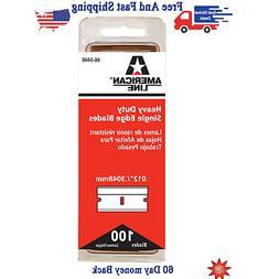 SINGLE EDGE RAZOR BLADES PACK OF 100 Straight Scraper Safety