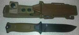 Gerber StrongArm Fixed Blade Knife Brown Partially Serrated