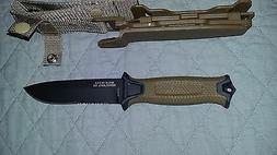 Gerber StrongArm Fixed Blade Knife Partial Serrated Blade,