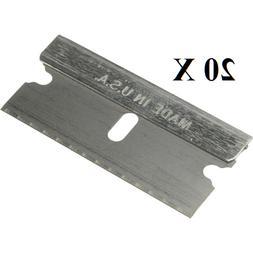 20 pc Razor Blades Single Edge Extra Sharp, Super Strong. MA