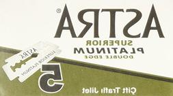 Astra Superior Platinum Double Edge Razor Blades - 30 Ct