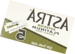 Astra Superior Platinum Double Edge Razor Blades - 30 Ct 30