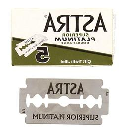 Astra Superior Platinum Double Edge Razor Blades - 10 Ct