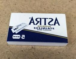 Astra Superior Stainless Double Edge Razor Blades / 5 Pack
