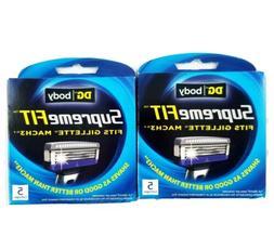 Supreme Fit Gillette Mach3 Razor Blades 10 Total Cartridges